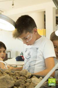 Campi estivi del piccolo paleontologo la voro col micro scalpello