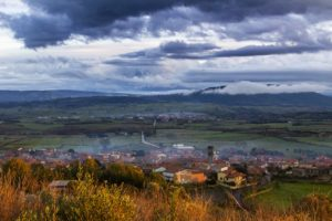 Panorama di Genoni dal Colle di Santu Antine